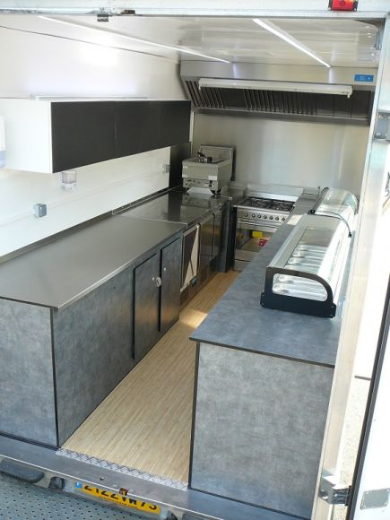 Cr ation de cuisine quip e pour camion restaurant ou - Camion amenage pour cuisine ...